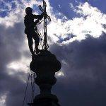 Oprava a nátěr kostelního kříže