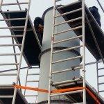 Demontáž ocelových  komínů a prostupů